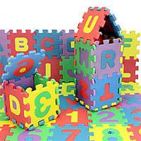 Мягкий коврик пазл - головоломка 36 шт. Английский алфавит, фото 1