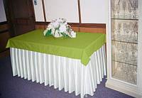 Фуршетная юбка  Модель 6  Белый + Салатовый