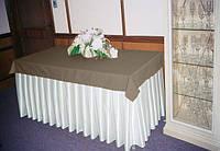 Фуршетная юбка  Модель 6  Белый + Порох