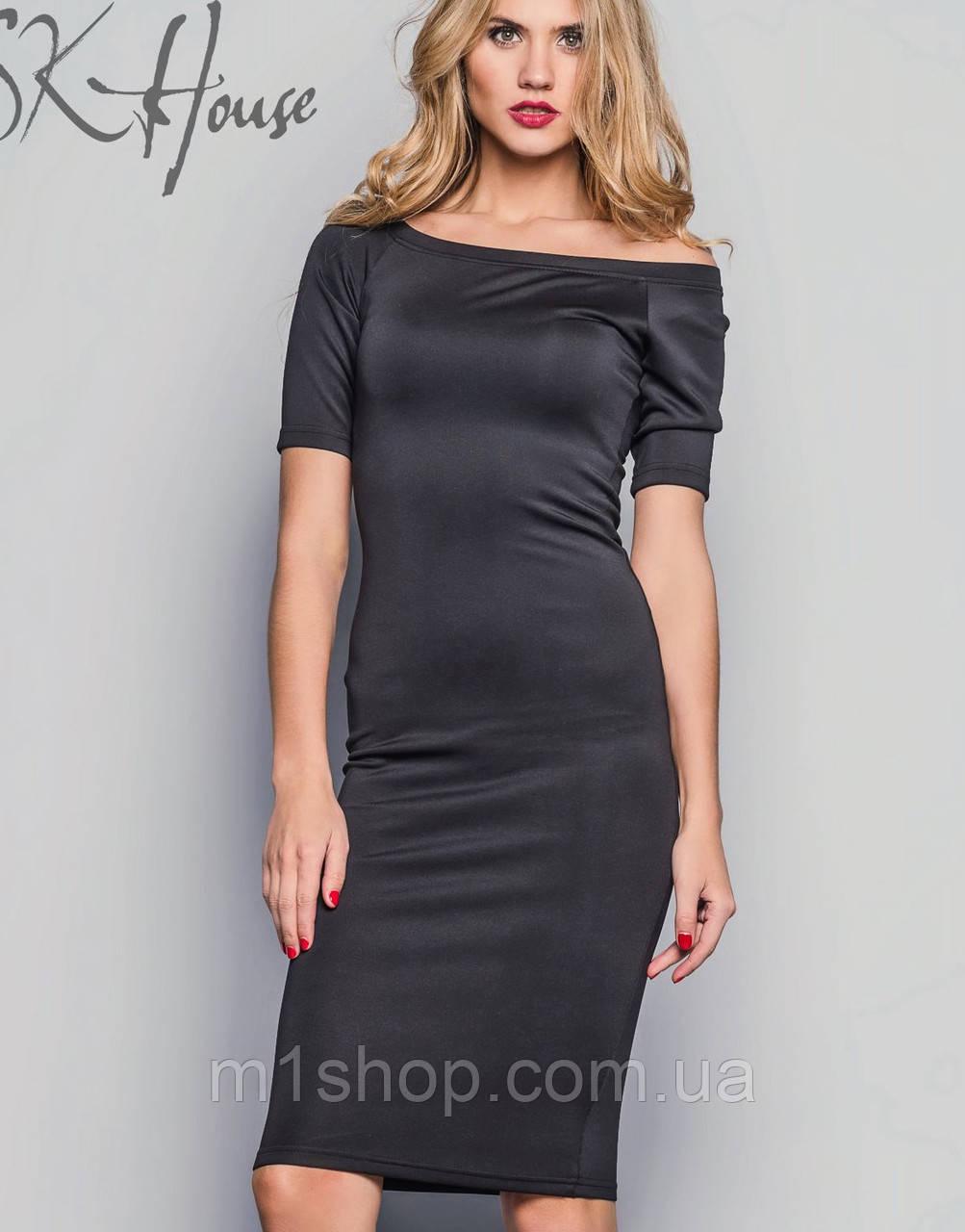 Облегающее черное платье по колени ( sk/ist)