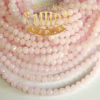 Бусинки рондели 2х4мм Цвет Pink Opal (розовый опал)  1шт