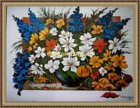 Картина в багетной раме Полевой букет 200х240мм №654