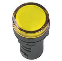 Светосигнальный индикатор AD22  (LED)  матрица 22mm жёлтый 230В AC