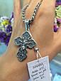 Мужской серебряный большой крест с распятием, золотом и чернением - Серебряный крестик, фото 7