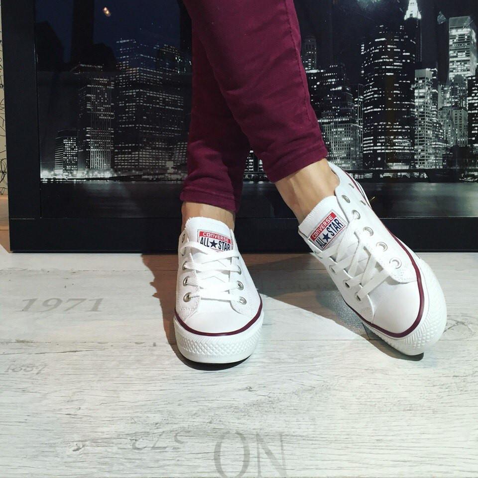 Кеды Converse All Star Белые (конверс Олл Стар Низкие) — в Категории ... b79e733e466