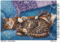 """Схема для полной зашивки бисером - """"Коты на диване"""" А3"""