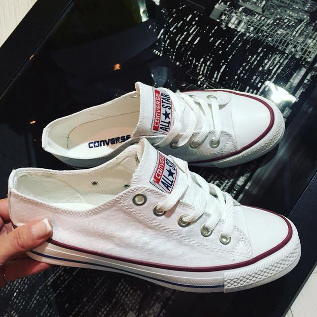 Белые женские кеды Converse All Star (конверс олл стар низкие) 06dcc70807be5