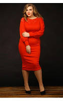 Женское Платье Миледи красное (48-72)