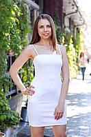 Платье женское мини D&G на бретельках с карманами Белый, 44
