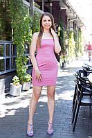 Платье женское мини D&G на бретельках с карманами Розовый, 42