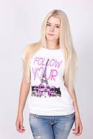 """Женская футболка """"Follow your"""""""