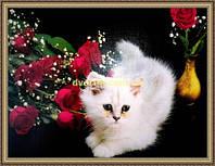 Репродукция картины Белый котенок