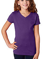 Футболка Next Level Girls Adorable V-Neck Tee Purple Rush