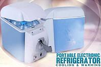 Портативный холодильник объемом 7,5л, переносной холодильник, портативный мини холодильник от сети