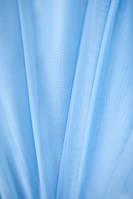 Тюль шифон   однотонный  небесно голубой  с 18