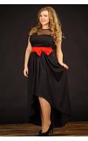 Женское Платье Бант черное (48-72)
