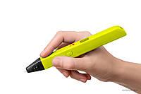 3д ручка Myriwell 3 RP-600A 3D pen (желтый) + набор пластика 12 цветов в подарок, фото 1