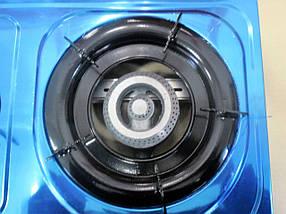 Настольная газовая плита, таганок МРИЯ - 3 На три конфорки , нержавеющая поверхность , с пьезо розжигом ., фото 3