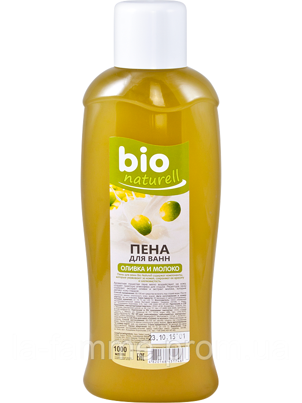 "Пена для ванн ""Оливка и молоко"" 1л ""Bio naturell"""
