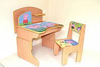 Детская деревянная парта со стулом , фото 1