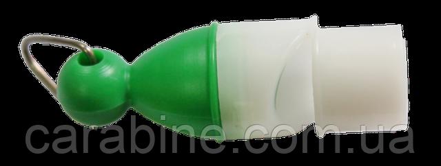 Обычный громкий свисток зеленого цвета