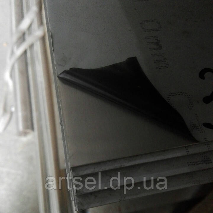 Лист нержавіючий 1 мм (1,5х3,0) 4N+PVC 201 шліфований