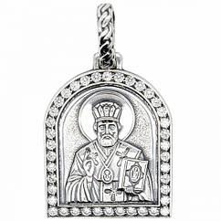 Кулон ладанка серебряная Николай Чудотворец