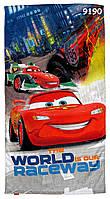 Полотенце Cars для мальчика, размер 75х135 см