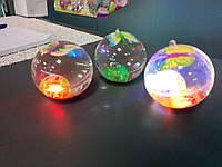 Светящиеся мячики-прыгунчики   с  блестками 6,5 СМ.
