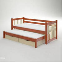 """Выдвижная кровать из массива дерева для детской """"Савана"""""""