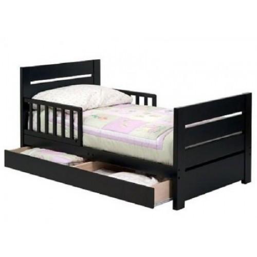 """Односпальная кровать из ольхи темного цвета  """"Полярная"""""""