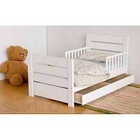 Белая кровать односпальная для девочки «Полярная»