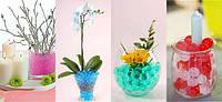Гидрогель,  аквагрунт (маленькие кристалы растущие в воде), лизуны, растушки (24 пакетика)