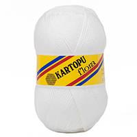 Kartopu Flora - 010 белый