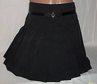 """Модная школьная юбка """"Плисе"""" чёрного цвета"""