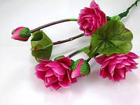 Лотосы букет (3 цветка, 2 бутона, 2 листа)