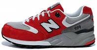 Мужские кроссовки New Balance 999 Red/White (Нью Баланс) красные/серые