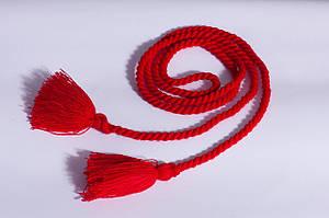 Пояс веревка красного цвета