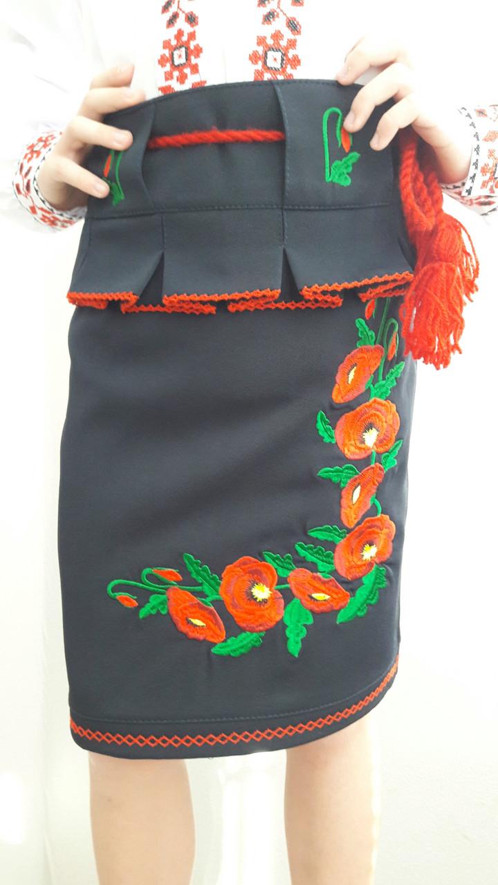 a3d0140d1de Детская юбка вышитая маками - Интернет магазин одежды Жасмин. в Хмельницком