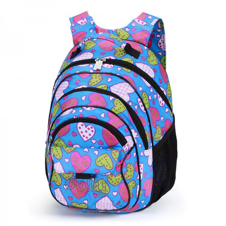 Рюкзак школьный для девочек Dolly 583 сердечки