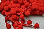 Тесьма с помпонами 20 мм красного цвета (Польша), фото 2