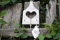 Ключник  настенный с сердцем, фото 1