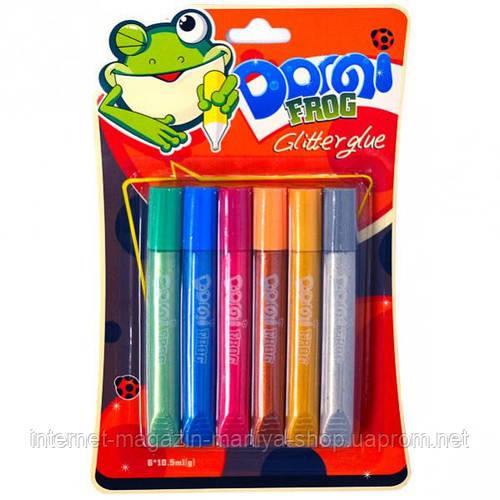 Клей перламутровый 10.5 мл «Dorgi frog» 6 цветов