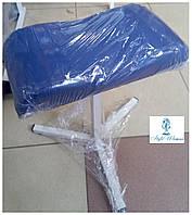 Тринога для педикюру з шкірозамінника підставка синя