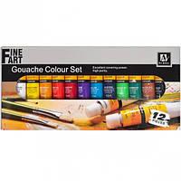 Краски гуашевые, водные 12 цветов «Art Nation» 12 мл
