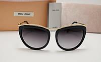 Женские солнцезащитные очки Miu Miu smu 55 p черный цвет, фото 1
