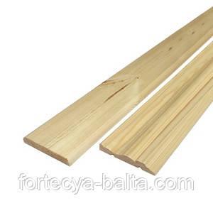 Деревянный наличник (плоский, чистый) 2,2м
