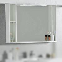 Зеркальный шкаф 984х705х156 со светодиодной подсветкой Буль-Буль ШЗ-980 белый
