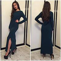 Женское платье длинное из трикотажа