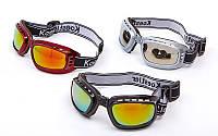 Очки спортивные BC-885 (акрил, пластик, PL, эластан, цвет оправы черный, серый, красный)